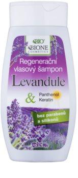 Bione Cosmetics Lavender sampon pentru regenerare pentru toate tipurile de păr
