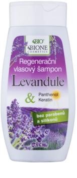 Bione Cosmetics Lavender shampoing régénérant pour tous types de cheveux