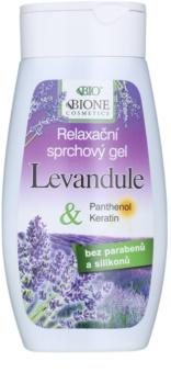 Bione Cosmetics Lavender χαλαρωτικό τζελ για ντους