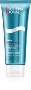 Biotherm Homme T-Pur Anti-oil & Shine τζελ καθαρισμού για λιπαρή και προβληματική επιδερμίδα