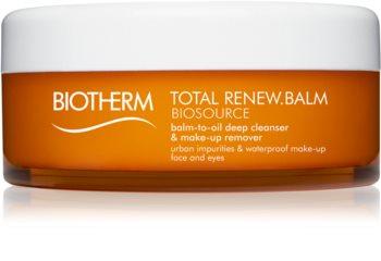 Biotherm Biosource Total Renew Balm emulsión desmaquillante para rostro y ojos