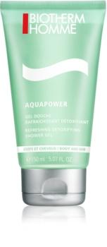 Biotherm Homme Aquapower gel doccia rinfrescante per corpo e capelli