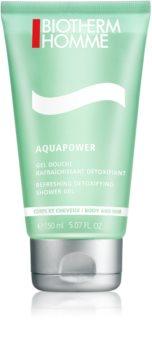 Biotherm Homme Aquapower δροσιστικό τζελ ντους για σώμα και μαλλιά