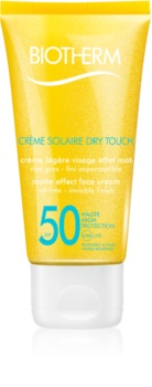 Biotherm Crème Solaire Dry Touch mattító napozó krém az arcra SPF 50