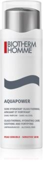 Biotherm Homme Aquapower cuidado hidratante para apaziguamento e reforçamento da pele sensível