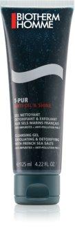 Biotherm Homme T-Pur Anti Oil & Shine tisztító gél az arcra
