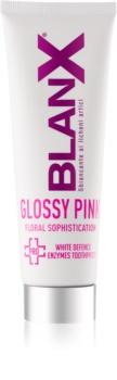 BlanX PRO Glossy Pink bleichende Zahnpasta gegen gelbe Flecken
