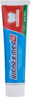 Blend-a-med Anti-Cavity Mild Mint dentífrico para prevenir as cáries
