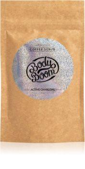 BodyBoom Active Charcoal kávový telový peeling