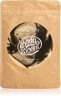 BodyBoom Shimmer Gold Kaffe kropsskrub