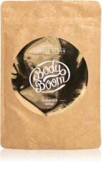 BodyBoom Shimmer Gold kávé test peeling