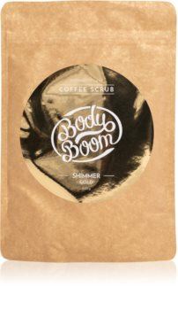 BodyBoom Shimmer Gold Kroppsskrubb med kaffe