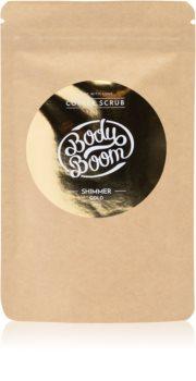 BodyBoom Shimmer Gold kávový tělový peeling