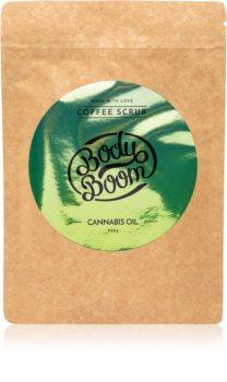 BodyBoom Cannabis Oil peeling corps au café