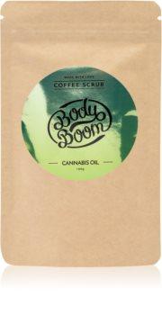 BodyBoom Cannabis Oil kávový tělový peeling