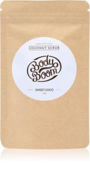 BodyBoom Sweet Coco kávé test peeling
