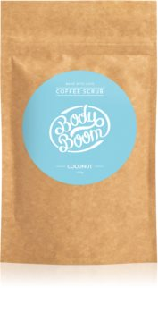 BodyBoom Coconut kávé test peeling