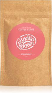 BodyBoom Strawberry exfoliant de corp, cu cafea