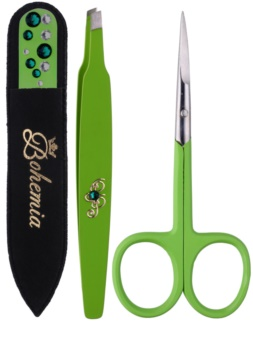 Bohemia Crystal Bohemia Swarovski Nail File,Tweezers and Nail Clippers Cosmetic Set I. for Women