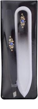 Bohemia Crystal Bohemia Swarovski Nail File and Tweezers Cosmetica Set  V. voor Vrouwen