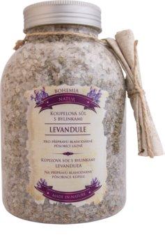 Bohemia Gifts & Cosmetics Bohemia Natur upokojujúca kúpeľová soľ s bylinkami s levanduľou