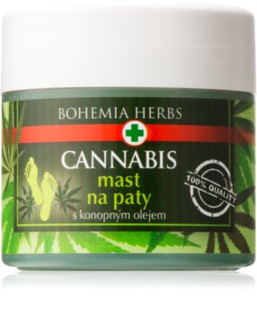 Bohemia Gifts & Cosmetics Cannabis Foot Ointment for Dry Calloused Skin With Hemp Oil