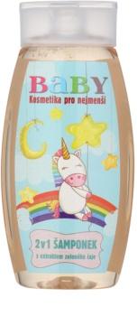 Bohemia Gifts & Cosmetics Baby vlasový a tělový šampon s extraktem zeleného čaje