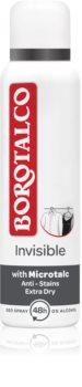 Borotalco Invisible Spray deodorant til at behandle overdreven svedtendens