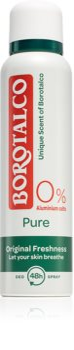 Borotalco Pure Original Freshness дезодорант в спрей без алуминий
