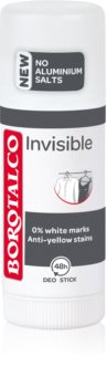 Borotalco Invisible izzadásgátló deo stift a fehér és sárga foltok ellen