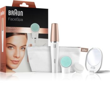 Braun Face 851V Sistema 3 in 1 per depilazione del viso, pulizia e tonificazione della pelle