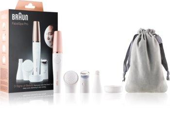 Braun FaceSpa Pro 911 Système 3 en 1 pour l'épilation du visage, le nettoyage et le raffermissement de la peau