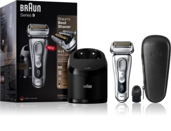 Braun Series 9 9390cc Silver with Clean&Charge System Folie hårtrimmer