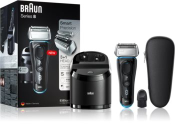 Braun Series 8 8385cc Black with Clean&Charge System rasoio a lama
