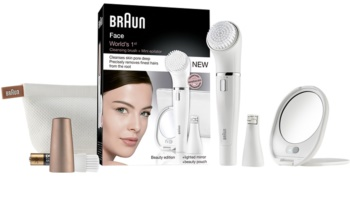 Braun Face 831 Epilator with Facial Cleansing Extension