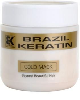 Brazil Keratin Gold keratínová regeneračná maska pre poškodené vlasy