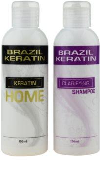 Brazil Keratin Home козметичен комплект I. (за непокорна коса) за жени