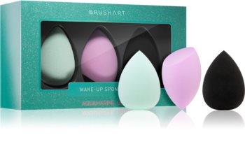 BrushArt Face Sponge set houbička na make-up 3 ks