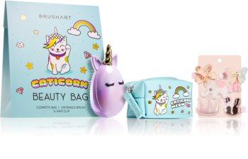 BrushArt KIDS kozmetični set Caticorn Beauty bag blue II.