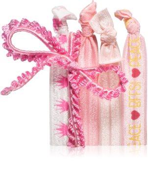 BrushArt KIDS Cute Pink Hair Elastics