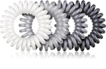 BrushArt Hair Rings Metal Hair Elastics 4 pcs