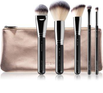 BrushArt Professional Eye & Face Brush set Kit de pinceaux avec pochette  pour femme