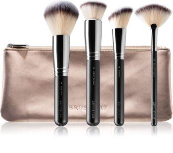 BrushArt Professional Face Brush set Kit de pinceaux avec pochette  pour femme