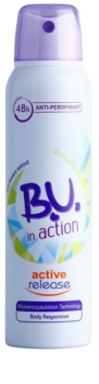 B.U. In Action Active Release antitranspirante para mujer