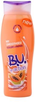 B.U. In Action - My Smoothies! Yogurt + Papaya gel de ducha para mujer 250 ml