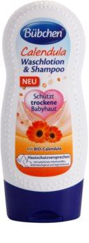 Bübchen Calendula dětský mycí gel a šampon 2 v 1