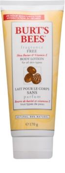 Burt's Bees Shea Butter Vitamin E тоалетно мляко за тяло с масло от шеа