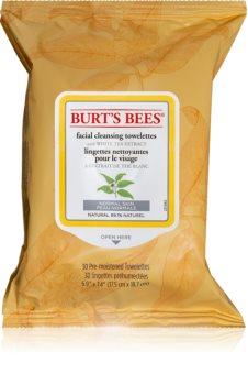 Burt's Bees White Tea вологі очищуючі серветки