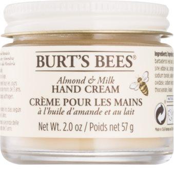 Burt's Bees Almond & Milk crème mains à l'huile d'amande