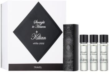 By Kilian Straight To Heaven, white cristal eau de parfum (1x vap.recarregável + 3 x recarga) para homens
